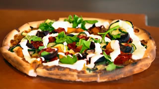 Theo's Farmers Market Roasted Vegetable Pizza