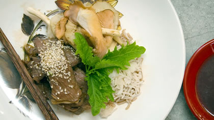 Beef Yakiniku with Swan Valley Mushrooms