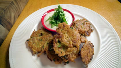 Zucchini Fritters with Lupin F
