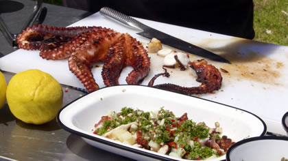 Mediterranean Style Octopus on the BBQ